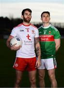 28 January 2019; Ronan MacNamee of Tyrone and Patrick Durcan of Mayo in attendance at the Allianz Football League Media Event at Healy Park in Omagh, Co. Tyrone. Photo by Piaras Ó Mídheach/Sportsfile