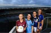 28 January 2019; Lidl Ireland LGFA Ambassadors Aishling Maloney, Sinead Goldrick, Aishling Sheridan along with Galway's Sinead Burke in attendance at the announcement of Lidl's plans for their their fourth year of partnership with the Ladies Gaelic Football Association, at the 2019 Lidl Ladies National Football League launch. Lidl Ireland are proud to announce various new initiatives and programmes to ensure even more participants at every level of the game reap the benefits of the sponsorship during 2019.The first new initiative, which is live as of today, will see Lidl Ireland invest 250,000 in a nationwide schools campaign where 159 post primary schools across the country will receive jerseys and equipment for their teams. Selected schools will then go on to take part in a brand new #SeriousSupport programme delivered by LGFA county level players which aims to show girls the benefits of playing sport both on and off the pitch. To nominate your local LGFA post primary school, simply log on to www.lidl.ie/jerseys today and enter the 10 digit unique code found at the end of your till receipt. Throughout the year Lidl Ireland will continue to run and introduce various new initiatives for the benefit of clubs and schools throughout the country. Photo by Harry Murphy/Sportsfile