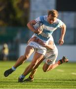 28 January 2019; Niall Comerford of Blackrock College is tackled by Stephen Corry of Presentation College Bray during the Bank of Ireland Leinster Schools Senior Cup Round 1 match between Presentation College Bray and Blackrock College at Energia Park in Dublin. Photo by David Fitzgerald/Sportsfile