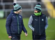 27 January 2019; Fermanagh manager Rory Gallagher, left, and assistant manager Ryan McMenamin before the Allianz Football League Division 2 Round 1 match between Fermanagh and Cork at Brewster Park in Enniskillen, Fermanagh. Photo by Oliver McVeigh/Sportsfile