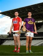 29 January 2019; Seamus Harnedy of Cork and Paul Morris of Wexford during an Allianz Hurling League media event ahead of the Cork and Wexford fixture at Páirc Uí Chaoimh, Co. Cork. Photo by Eóin Noonan/Sportsfile