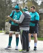 29 January 2019; Peter O'Mahony, left, and Jack McGrath sign an autograph for Stephen Molloy, from Mullingar, Co Westmeath prior to to Ireland Rugby Squad Training at Carton House in Maynooth, Co Kildare. Photo by David Fitzgerald/Sportsfile
