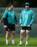 29 January 2019; Jack Conan, right, and Jack McGrath during Ireland Rugby Squad Training at Carton House in Maynooth, Co Kildare. Photo by David Fitzgerald/Sportsfile