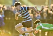 30 January 2019; Conor Dunne of Castleknock College is tackled by Jack Berry of Gonzaga College during the Bank of Ireland Leinster Schools Senior Cup Round 1 match between Gonzaga College and Castleknock College at Castle Avenue in Dublin. Photo by Matt Browne/Sportsfile