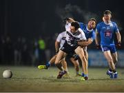 30 January 2019; Darren Gavin of University College Dublin is tackled by David Toner of TU Dublin City Campus during the Electric Ireland Sigerson Cup Round 3 match between UCD and TUDCC at Billings Park in UCD, Dublin. Photo by Eóin Noonan/Sportsfile