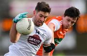 27 January 2019; Ben McCormack of Kildare in action against James Morgan of Armagh during the Allianz Football League Division 2 Round 1 match between Kildare and Armagh at St Conleth's Park in Newbridge, Kildare. Photo by Piaras Ó Mídheach/Sportsfile