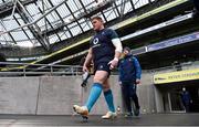 31 January 2019; Tadhg Furlong arrives for Ireland rugby squad training at Aviva Stadium, Dublin. Photo by Brendan Moran/Sportsfile