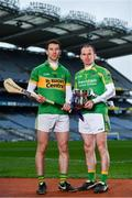 31 January 2019; Peter Treanor of Castleblayney, left, is pictured alongside Noel Hickey of  Dunnamaggin, ahead of the AIB GAA All-Ireland Junior Hurling Club Championship Final taking place at Croke Park on Sunday, February 10th. For exclusive content and behind the scenes action throughout the AIB GAA & Camogie Club Championships follow AIB GAA on Facebook, Twitter, Instagram and Snapchat.   Photo by Sam Barnes/Sportsfile