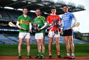31 January 2019;  Ahead of the AIB GAA All-Ireland Intermediate and Junior Hurling Club Championship Final, which take place at Croke Park on Sunday, February 10th, are from left, Peter Treanor of Castleblayney, Noel Hickey of Dunnamaggin, Darragh Fitzgibbon of Charleville and Niall Burke of Oranmore-Maree. For exclusive content and behind the scenes action throughout the AIB GAA & Camogie Club Championships follow AIB GAA on Facebook, Twitter, Instagram and Snapchat. Photo by Sam Barnes/Sportsfile
