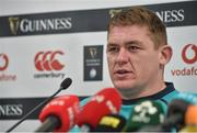31 January 2019; Tadhg Furlong during an Ireland rugby squad press conference at the Aviva Stadium in Dublin. Photo by Matt Browne/Sportsfile