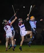 31 January 2019; Evan Cody, 3, and Lorcan Lyons of UL in action against Stephen Quirke, second from left, and Seamus Flanagan of UCD during the Electric Ireland Fitzgibbon Cup Group A Round 3 match between University College Dublin and University of Limerick at Billings Park in Belfield, Dublin. Photo by Stephen McCarthy/Sportsfile
