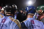 31 January 2019; UCD manager Conor O' Shea speaks to his players following the Electric Ireland Fitzgibbon Cup Group A Round 3 match between University College Dublin and University of Limerick at Billings Park in Belfield, Dublin. Photo by Stephen McCarthy/Sportsfile