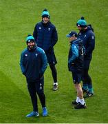 1 February 2019; Head coach Joe Schmidt with his coaching team, forwards coach Simon Easterby, scrum coach Greg Feek and defence coach Andy Farrell during the Ireland Rugby captain's run at the Aviva Stadium in Dublin. Photo by Ramsey Cardy/Sportsfile