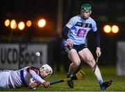 31 January 2019; Stephen Quirke of UCD and Conor Cleary of UL during the Electric Ireland Fitzgibbon Cup Group A Round 3 match between University College Dublin and University of Limerick at Billings Park in Belfield, Dublin. Photo by Stephen McCarthy/Sportsfile