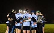 31 January 2019; UCD players prior to the Electric Ireland Fitzgibbon Cup Group A Round 3 match between University College Dublin and University of Limerick at Billings Park in Belfield, Dublin. Photo by Stephen McCarthy/Sportsfile