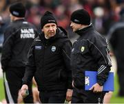 27 January 2019; Kerry manager Peter Keane and Chris Flannery, Kerry Strength and Conditioning coach, right, prior to the Allianz Football League Division 1 Round 1 match between Kerry and Tyrone at Fitzgerald Stadium in Killarney, Kerry. Photo by Stephen McCarthy/Sportsfile