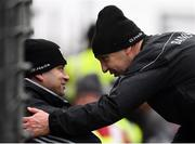 27 January 2019; Kerry manager Peter Keane and Chris Flannery, Kerry Strength and Conditioning coach, left, following the Allianz Football League Division 1 Round 1 match between Kerry and Tyrone at Fitzgerald Stadium in Killarney, Kerry. Photo by Stephen McCarthy/Sportsfile