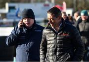 2 February 2019; Jockey Davy Russell, right, and trainer Gordon Elliott prior to racing on Day One of the Dublin Racing Festival at Leopardstown Racecourse in Dublin. Photo by Seb Daly/Sportsfile