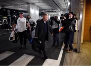 2 February 2019; England head coach Eddie Jones arrives prior to the Guinness Six Nations Rugby Championship match between Ireland and England in the Aviva Stadium in Dublin. Photo by Brendan Moran/Sportsfile