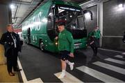 2 February 2019; Tadhg Furlong of Ireland arrives prior to the Guinness Six Nations Rugby Championship match between Ireland and England in the Aviva Stadium in Dublin. Photo by Brendan Moran/Sportsfile