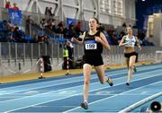 2 February 2019; Sarah Healy of Blackrock AC, Co. Dublin, on her way to winning the  Senior Women 1500m event during the AAI Indoor Games at the National Indoor Arena in Abbotstown, Dublin. Photo by Sam Barnes/Sportsfile