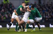 2 February 2019; Jack Nowell of England is tackled by Garry Ringrose, left, and Conor Murray of Ireland during the Guinness Six Nations Rugby Championship match between Ireland and England in the Aviva Stadium in Dublin. Photo by David Fitzgerald/Sportsfile