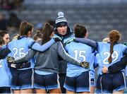 2 February 2019; Dublin manager Mick Bohan speaks to his players prior to the Lidl Ladies NFL Division 1 Round 1 match between Dublin and Donegal at Croke Park in Dublin. Photo by Harry Murphy/Sportsfile