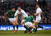 2 February 2019; Elliot Daly of England is tackled by Garry Ringrose of Ireland during the Guinness Six Nations Rugby Championship match between Ireland and England in the Aviva Stadium in Dublin. Photo by David Fitzgerald/Sportsfile