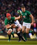 2 February 2019; Josh van der Flier of Ireland is tackled by Jonny May of England during the Guinness Six Nations Rugby Championship match between Ireland and England in the Aviva Stadium in Dublin. Photo by Ramsey Cardy/Sportsfile