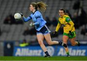 2 February 2019; Jennifer Dunne of Dublin in action against Ciara Grant of Donegal during the Lidl Ladies NFL Division 1 Round 1 match between Dublin and Donegal at Croke Park in Dublin. Photo by Piaras Ó Mídheach/Sportsfile