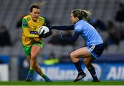 2 February 2019; Ciara Grant of Donegal in action against Martha Byrne of Dublin during the Lidl Ladies NFL Division 1 Round 1 match between Dublin and Donegal at Croke Park in Dublin. Photo by Piaras Ó Mídheach/Sportsfile