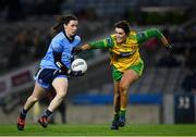 2 February 2019; Lyndsey Davey of Dublin in action against Emer Gallagher of Donegal during the Lidl Ladies NFL Division 1 Round 1 match between Dublin and Donegal at Croke Park in Dublin. Photo by Harry Murphy/Sportsfile