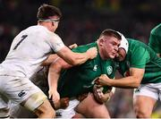 2 February 2019; Tadhg Furlong of Ireland is tackled by Tom Curry of England during the Guinness Six Nations Rugby Championship match between Ireland and England in the Aviva Stadium in Dublin. Photo by Ramsey Cardy/Sportsfile