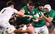 2 February 2019; Tadhg Furlong of Ireland is tackled by Tom Curry, left, and Mako Vunipola of England during the Guinness Six Nations Rugby Championship match between Ireland and England in the Aviva Stadium in Dublin. Photo by Ramsey Cardy/Sportsfile