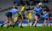 2 February 2019; Geraldine McLaughlin of Donegal in action against Jennifer Dunne, left, and Olwen Carey of Dublin during the Lidl Ladies NFL Division 1 Round 1 match between Dublin and Donegal at Croke Park in Dublin. Photo by Piaras Ó Mídheach/Sportsfile