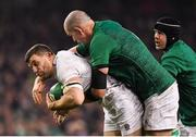 2 February 2019; Mark Wilson of England is tackled by Devin Toner of Ireland during the Guinness Six Nations Rugby Championship match between Ireland and England in the Aviva Stadium in Dublin. Photo by Brendan Moran/Sportsfile