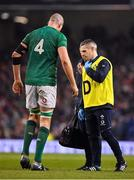 2 February 2019; Devin Toner of Ireland leaves the pitch with Team Doctor Dr. Ciaran Cosgrave during the Guinness Six Nations Rugby Championship match between Ireland and England in the Aviva Stadium in Dublin. Photo by Brendan Moran/Sportsfile