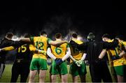 2 February 2019; Donegal players stand for the national anthem prior to the Allianz Football League Division 2 Round 2 match between Donegal and Meath at MacCumhaill Park in Ballybofey, Donegal. Photo by Stephen McCarthy/Sportsfile
