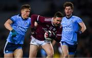 2 February 2019; Padraig Cunningham of Galway in action against John Small, left, and Liam Flatman of Dublin during the Allianz Football League Division 1 Round 2 match between Dublin and Galway at Croke Park in Dublin. Photo by Piaras Ó Mídheach/Sportsfile