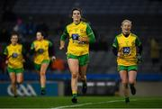 2 February 2019; Emer Gallagher, left, and Treasa Doherty of Donegal following the Lidl Ladies NFL Division 1 Round 1 match between Dublin and Donegal at Croke Park in Dublin. Photo by Harry Murphy/Sportsfile