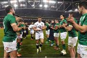 2 February 2019; Owen Farrell of England is applauded off the pitch by the Ireland team following the Guinness Six Nations Rugby Championship match between Ireland and England in the Aviva Stadium in Dublin. Photo by Brendan Moran/Sportsfile