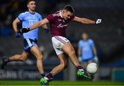 2 February 2019; Cillian McDaid of Galway scores a point as James McCarthy of Dublin closes in during the Allianz Football League Division 1 Round 2 match between Dublin and Galway at Croke Park in Dublin. Photo by Piaras Ó Mídheach/Sportsfile