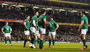 2 February 2019; Ireland players, including Andrew Porter, Jonathan Sexton, Quinn Roux, Robbie Henshaw, Sean O'Brien and Jacob Stockdale react after England's third try during the Guinness Six Nations Rugby Championship match between Ireland and England in the Aviva Stadium in Dublin. Photo by Brendan Moran/Sportsfile