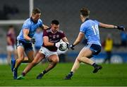 2 February 2019; Cillian McDaid of Galway in action against Paul Mannion, left, and Seán Bugler of Dublin during the Allianz Football League Division 1 Round 2 match between Dublin and Galway at Croke Park in Dublin. Photo by Piaras Ó Mídheach/Sportsfile