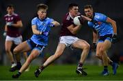 2 February 2019; Cein D'Arcy of Galway in action against Seán Bugler, left, and Paul Mannion of Dublin during the Allianz Football League Division 1 Round 2 match between Dublin and Galway at Croke Park in Dublin. Photo by Piaras Ó Mídheach/Sportsfile