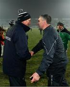 2 February 2019; Limerick manager John Kiely and Tipperary manager Liam Sheedy exchange a handshake after the Allianz Hurling League Division 1A Round 2 match between Limerick and Tipperary at the Gaelic Grounds in Limerick. Photo by Diarmuid Greene/Sportsfile