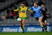 2 February 2019; Ciara Grant of Donegal in action against Jennifer Dunne of Dublin during the Lidl Ladies NFL Division 1 Round 1 match between Dublin and Donegal at Croke Park in Dublin. Photo by Piaras Ó Mídheach/Sportsfile