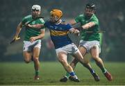 2 February 2019; Ronan Maher of Tipperary in action against Kevin Downes of Limerick during the Allianz Hurling League Division 1A Round 2 match between Limerick and Tipperary at the Gaelic Grounds in Limerick. Photo by Diarmuid Greene/Sportsfile