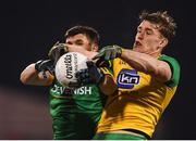 2 February 2019; Shane McEntee of Meath in action against Hugh McFadden of Donegal during the Allianz Football League Division 2 Round 2 match between Donegal and Meath at MacCumhaill Park in Ballybofey, Donegal. Photo by Stephen McCarthy/Sportsfile