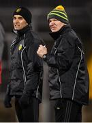 2 February 2019; Donegal manager Declan Bonner and selector Karl Lacey, left, during the Allianz Football League Division 2 Round 2 match between Donegal and Meath at MacCumhaill Park in Ballybofey, Donegal. Photo by Stephen McCarthy/Sportsfile